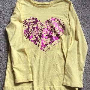 Girls long sleeved butterfly top